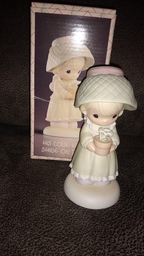 Enesco / Precious Moments /  His Love Will Shine On You / Last Forever collection  in original box / female figurine / gardening figurine