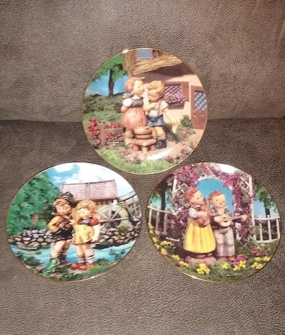 M.J. Hummel / Little Companions / Danbury Mint / Fine Porcelain / Gold Trim / Made in Switzerland / Limited Edition plate /Estate Collection