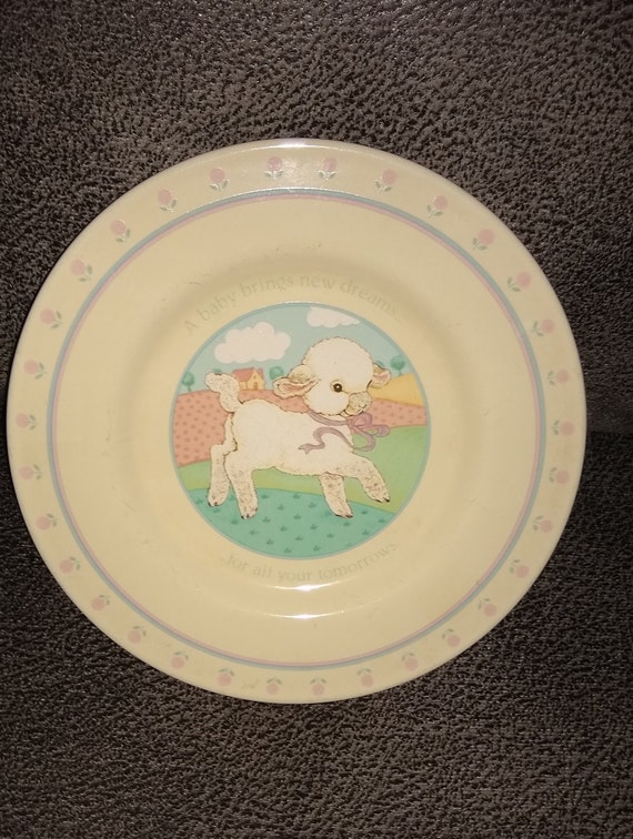 Vintage Hallmark Baby Brings New Dreams / Made in Japan / 1984 / New Mom gift / Baby Shower gift / Estate sale  / Collectors Plate / Rare