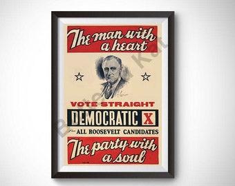Democrat Poster Etsy