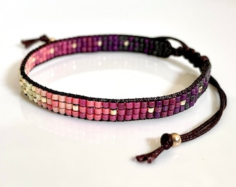 Summer Sunset Woven Beaded Bracelet