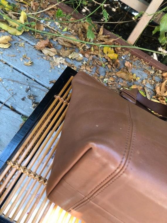 90s Vintage Coach Waverly British Tan tote bag 41… - image 5
