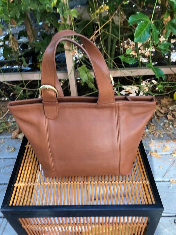 90s Vintage Coach Waverly British Tan tote bag 41… - image 2