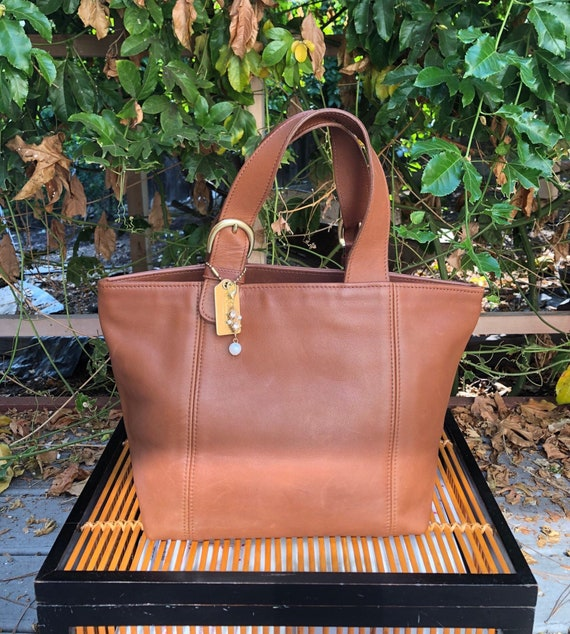 90s Vintage Coach Waverly British Tan tote bag 41… - image 1