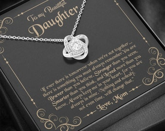 Papa Bear To My Daughter This Old Bear Will Always Have Your Back Interlocking Hearts Necklace Love Dad