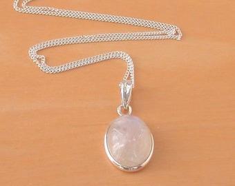 Handmade Pendant Carved  Pendant Sterling Silver Necklace Pendant For Women Carving Pendant Moonstone Pendant- Healing Pendant