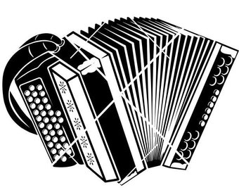Accordion Music musician Musical Instrument Squeezebox Concert Piano * Cut Sign Image ClipArt digital download eps/dxf/png/jpeg/svg