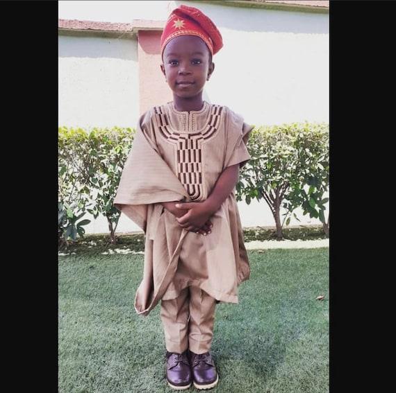 Dashiki African Agbada dress for kids Clothing African African traditional Suit African kids Clothing