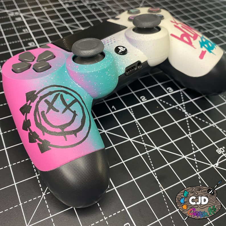 Custom painted Blink 182 PS4 controller