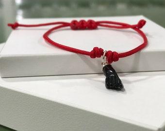 Red Lucky Bracelet with Azabache Figa