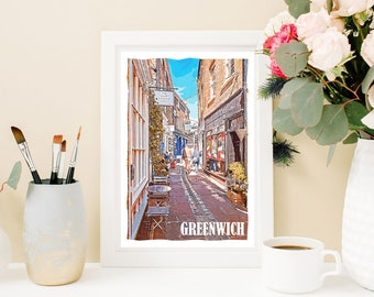 Greenwich England Poster Art Print United Kingdom Item T5008
