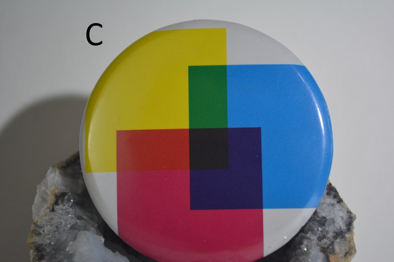 1.75 44mm abstract pinback buttons