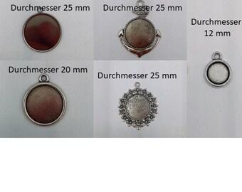 beadsvision 50 Brisuren f/ür 8mm Cabochons Klappbrisuren Rohlinge f/ür Cabochons Farbe Bronze Ohrringe #S528