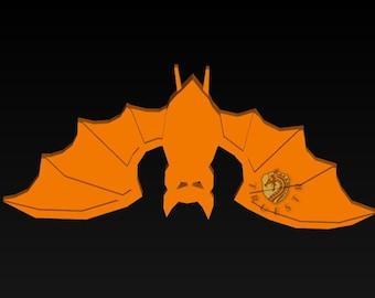 3D STL Model happy halloween bat for CNC Router Aspire Artcam 3D Printer Engraver 3D Design Instant Download Digital Product