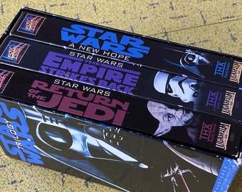 Stars Wars Trilogy - 3 VHS Box Set - Star Wars A New Hope - The Empire Strikes Back - Return Of The Jedi - 1995 Reissue -Excellent Condition