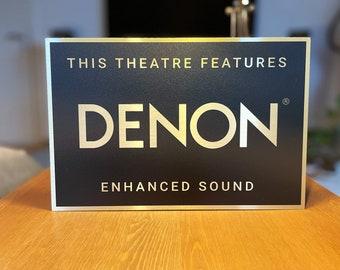 Denon Home Theater Sign