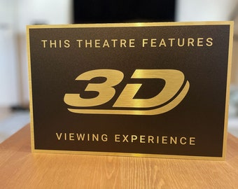3D Home Theater Sign