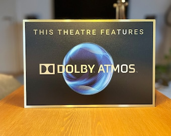 Dolby Atmos Color Home Theater Sign