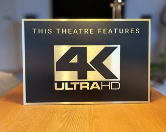 4K Ultra HD Home Theater Sign