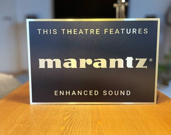 Marantz Home Theater Sign