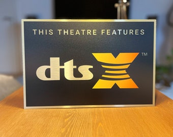DTS X Color Home Theater Sign