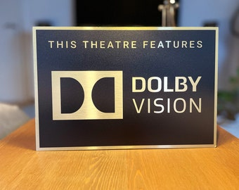 Dolby Vision Home Theater Sign