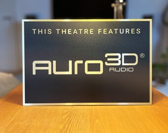 Auro 3D Home Theater Sign