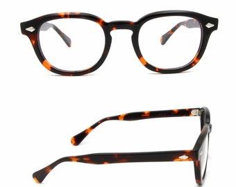 Tart Arnel Johnny Depp Style Glasses 44-24 Size Eye Glasses Tortoiseshell