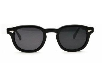 Tart Arnel Johnny Depp Style Sunglasses Size 44-24 Eye Glasses Black Grey