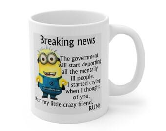funny minion coffee tea mug cup gift for friend birthday