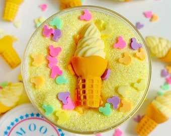 Disney Dole Whip // Borax-Free Pineapple Scented Butter Slime