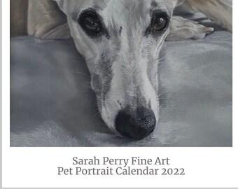 2022 Pet Portrait Fine Art Calendar, A3 2022 wall calendar
