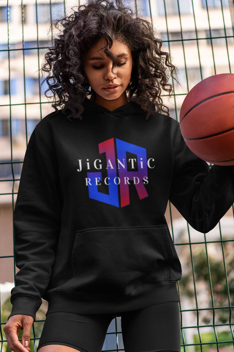 JiGANTiC Records Black or White Unisex Pullover Hoodie / image 0