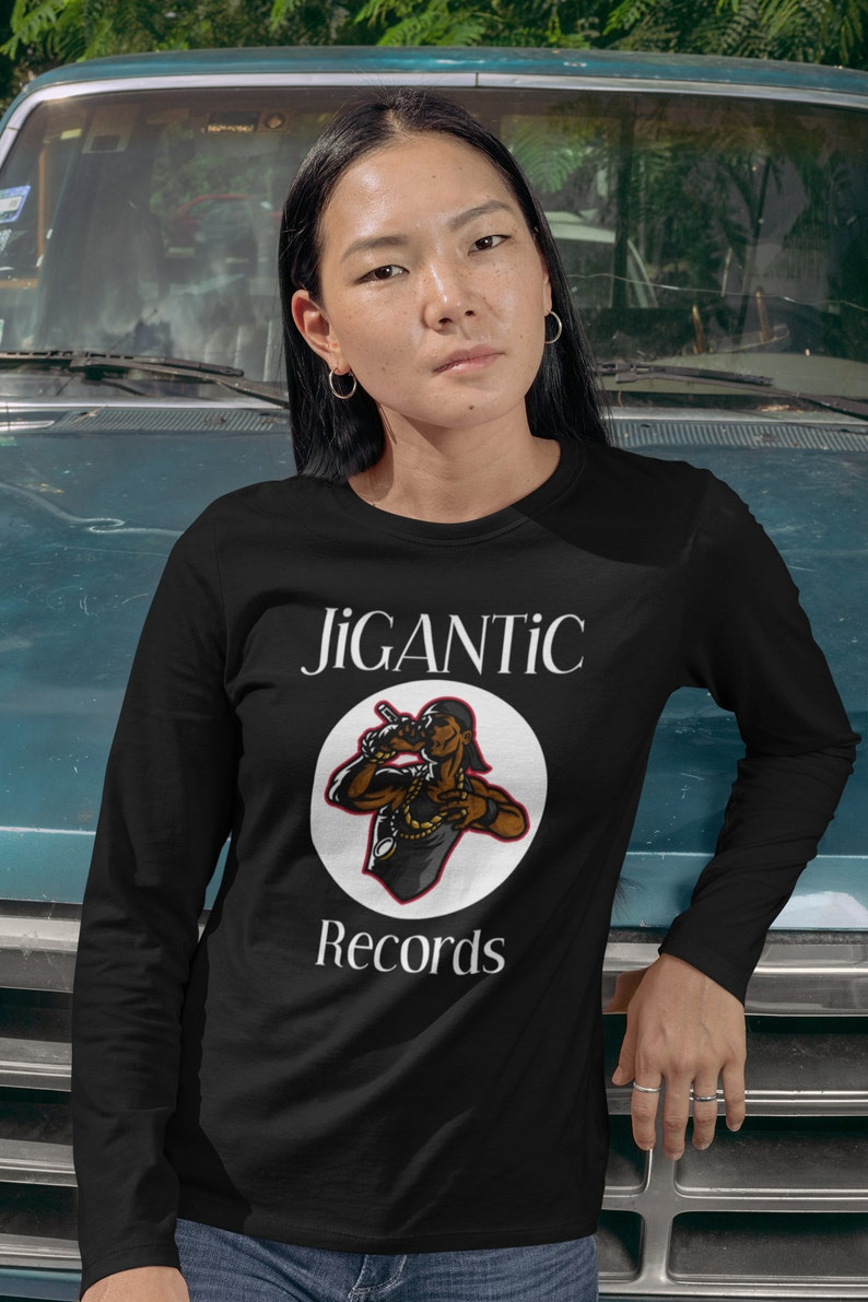 JiGANTiC Records Black Long Sleeve Unisex T-shirt / Graphic image 0