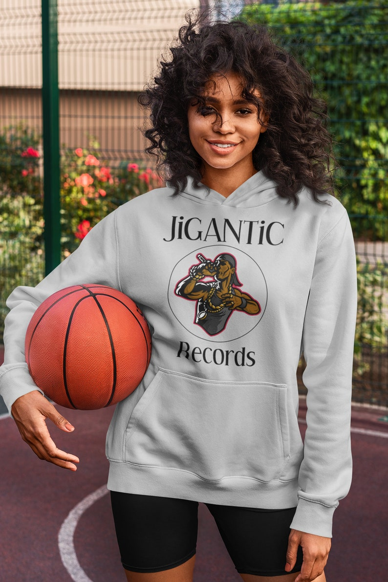 JiGANTiC Records White or Grey Unisex Pullover Hoodie / image 0