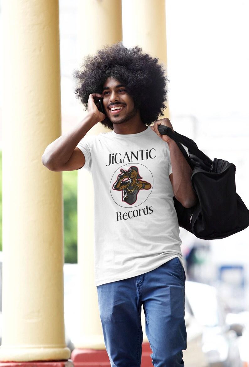 JiGANTiC Records White Short Sleeve Unisex T-shirt / Graphic image 0