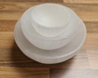Selenite Crystal Bowl, Crystal Cleansing Bowl, Selenite Charging Bowl, Polished Selenite, Crystal Bowl, Selenite Round Bowl