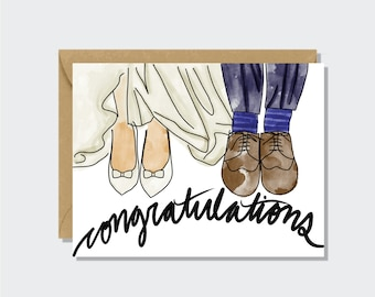 Wedding Card - Congratulations, Newly Weds, Couple