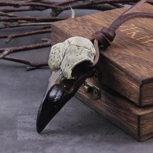 Nevermore Raven Skull Necklace Gothic Crow Corvid Ian Michael Gray