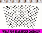 Louis Vuitton Full Wrap For Starbucks Cup Svg, Trending Svg, LV Starbucks Cup, LV Starbucks Svg, Starbucks Wrap Svg