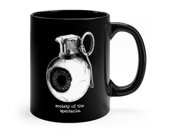 Debord Society of the Spectacle Eye Grenade Philosophy Mug