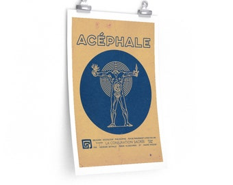Acephale The Sacred Conspiracy Bataille Philosophy Poster