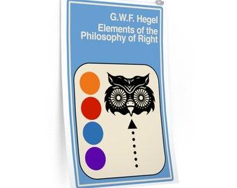 Hegel Helvetica Minerva Philosophy Poster