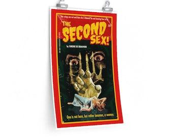 Simone de Beauvoir The Second Sex Horror Philosophy Poster