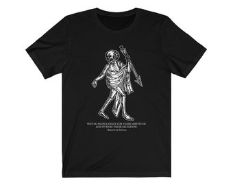Spinoza Wonders/Salvation and Servitude Philosophy T-shirt
