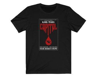 Karl Marx Capital Stephen King Parody Philosophy T-shirt