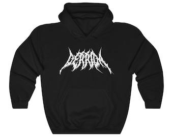 Derrida Death Metal Philosophy Hoodie