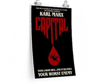 Karl Marx Capital Stephen King Parody Philosophy Poster