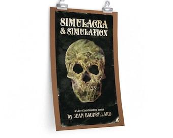 Baudrillard Simulacra and Simulation Philosophy Poster
