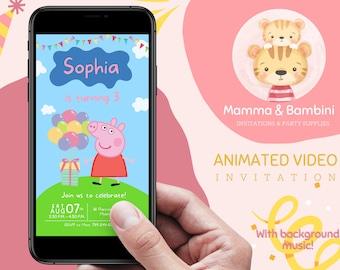 PEPPA PIG Birthday Invitation | Peppa Pig Invitation | Mobile invitation | Birthday | Custom Birthday invitation